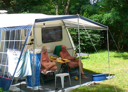Campsites for naturists